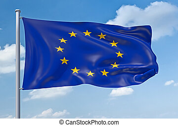 europe union flag - An image of the europe union flag in the...