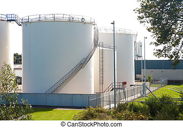fuel tanks - silos used for storage of gasoline