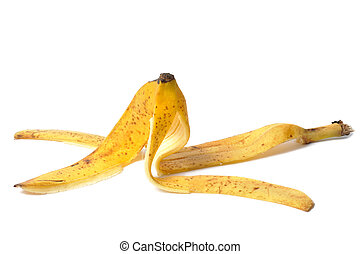 Banana Skin - Banana skin isolated on white background