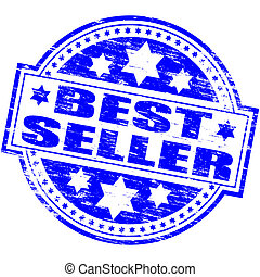 Best Seller Stamp - Rubber stamp illustration showing BEST...