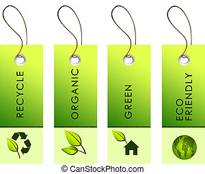 green labels with nature symbols - green labels with nature...