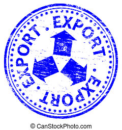 Export Stamp - Rubber stamp illustration showing EXPORT text...