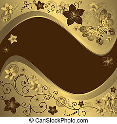 Decorative golden and brown frame