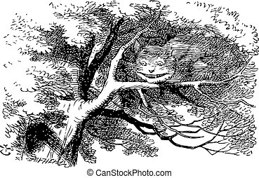 Cheshire Cat fading to smile - Alice in Wonderland. Cheshire...