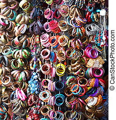 Colorful bangles - Variety of colorful indian bangles