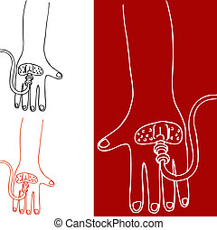 Intravenous Therapy Hand - An image of a hand with an...