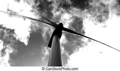 Wind turbine - Single wind turbine against the sky