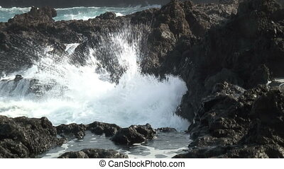 Coastline - Rocky coast and surf