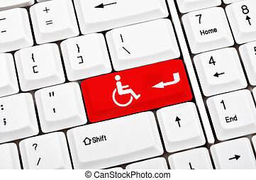 Handicap key - Handicap sign in place of enter key