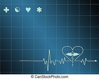 cardiogram - Illustration of electrical activity of the...