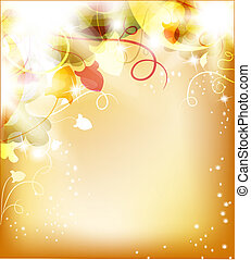 Beautiful flower background - Golden Luminous background...