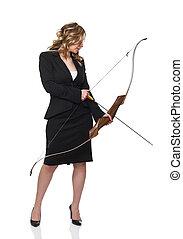 mujer de negocios, arco
