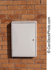 Gas Meter Cupboard - Photo of a gas or electric meter box