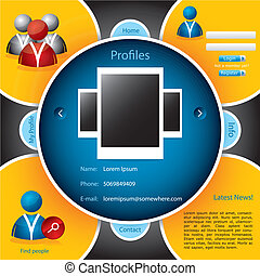 Website template for social networking
