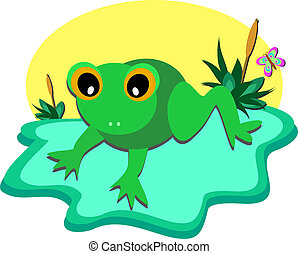 Tiny Frog Pond - Here is a baby Frog enjoying his private...