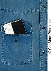 Pocket - Jeans shirt pocket with phone
