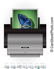 LaserJet Printer - Medium Home Color Photo LaserJet Printer...