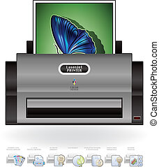 LaserJet Printer - Medium Home Color Photo LaserJet Printer...