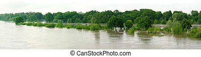 Flood on the Odra river
