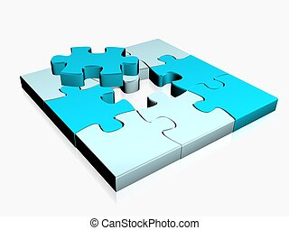 puzzle - 3d illustration of puzzle illustration