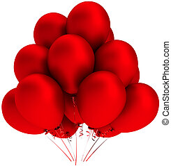 Red helium balloons decoration