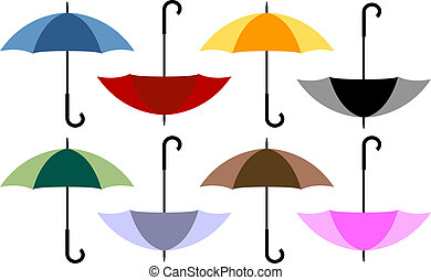 Set of 8 Umbrellas