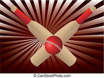 crickt bats and ball