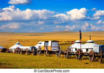 Migration Transport - Migration transport in Inner Mongolia,...