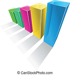 Color graph - Growth graph for design and business concept