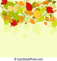 Autumn background - Autumn colorful leaves background for...