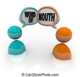 Word of Mouth - Two People Speaking - Two people with speech...