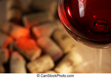 Wine corks with wine reflex - Heap of used vintage corks...