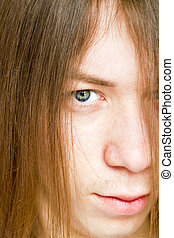 young guy with long hair