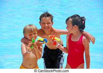 Children at the pool