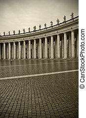 Bernini Colonnade - The Famous Bernini Colonnade in Saint...