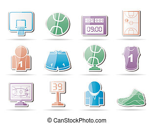Basketball and sport icons