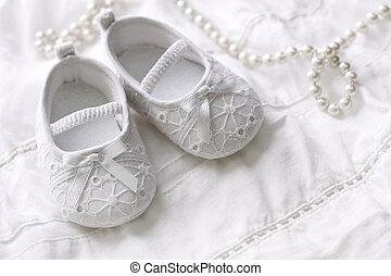 bebê, menina, sapatos