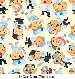 seamless doctor and nurse pattern - seamless doctor and...