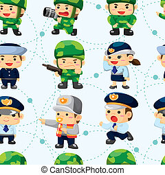 seamless police and soldier pattern
