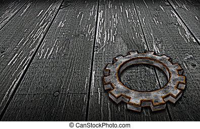 rusty gear wheel