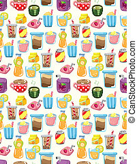 seamless drink pattern  - seamless drink pattern