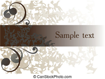 Abstract background_1 - Abstract background with decorative...