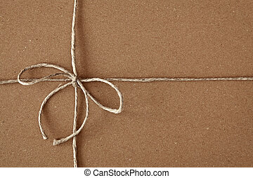 Carton box post package with bow