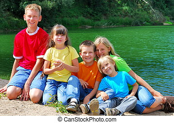 Children at the Lake