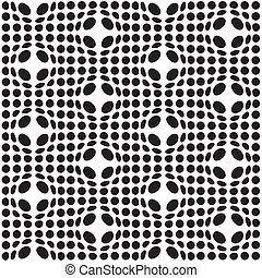 Bulge spot background - Abstract black and white seamless...