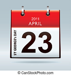 st Georges day calendar icon - St georges day calendar icon...