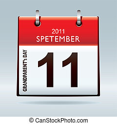 Grandparents calendar icon - Celebrate grandparents day with...