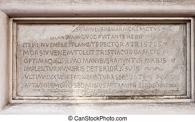 Medieval latin catholic inscription - Ancient medieval latin...