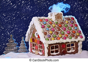 gingerbread house - Homemade gingerbread house