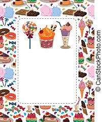 candy cake card  - candy cake card